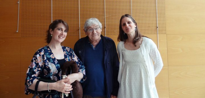 Amanda Babington, Remi Dubois and Birgit Bornauw at the 2019 Musette conference in Rouen